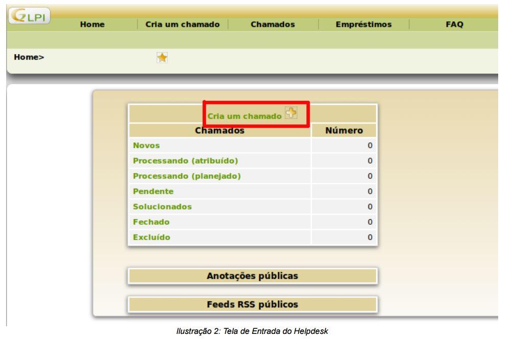 img 2 tela de entrada do helpdesk